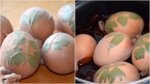 Jajka gotowane w cebuli